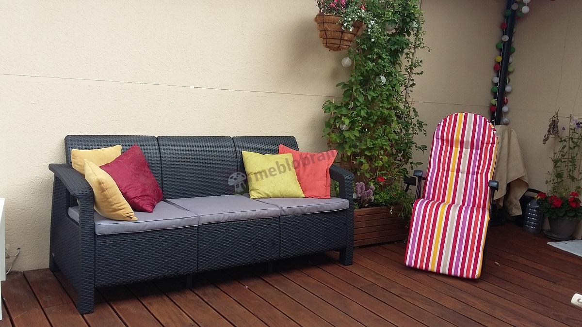 Sofa technorattan Corfu w urokliwej aranżacji