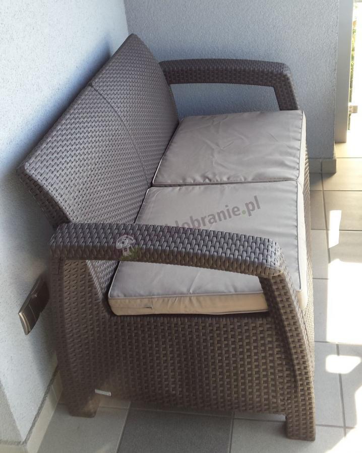 Sofa technorattan efekt z kompletu Corfu Set