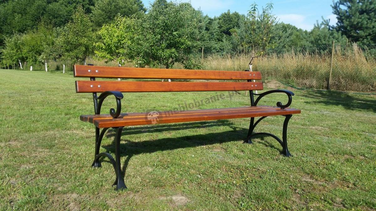Solidna i trwała ławka parkowa 180 cm