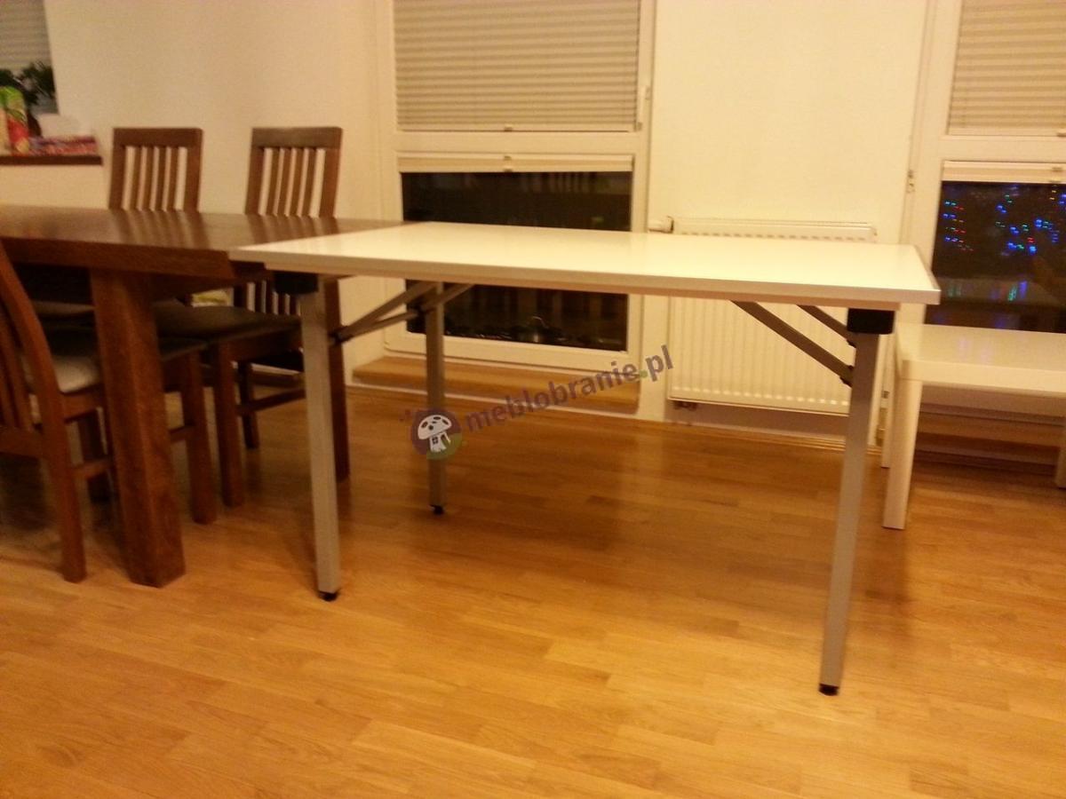 Stół bankietowy składany 120x80 cm ze stelażem metalik