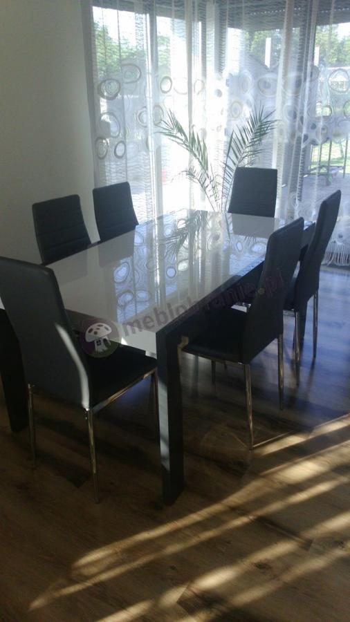 Stół do jadalni na 6 osób wymiary 160-260 cm na 90 cm
