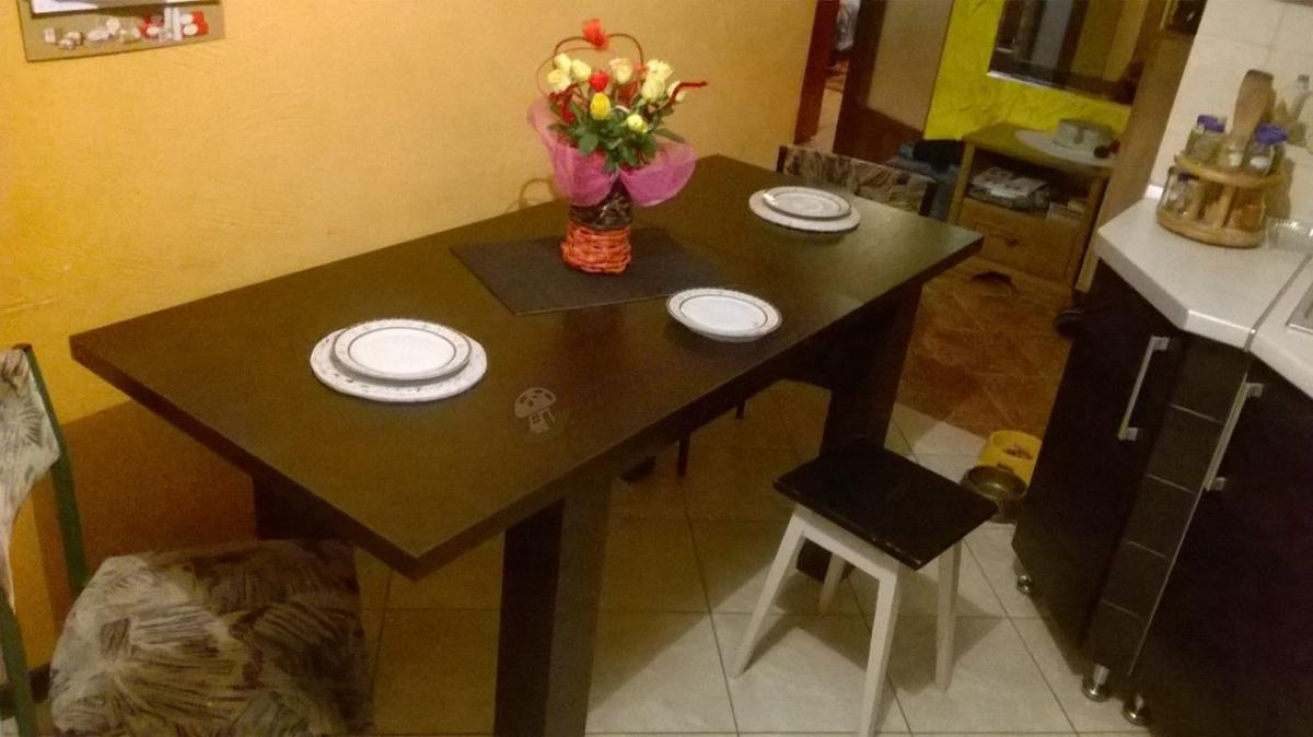 Stół do jadalni rozsuwany Luizjana w kolorze wenge w kuchni naszego klienta