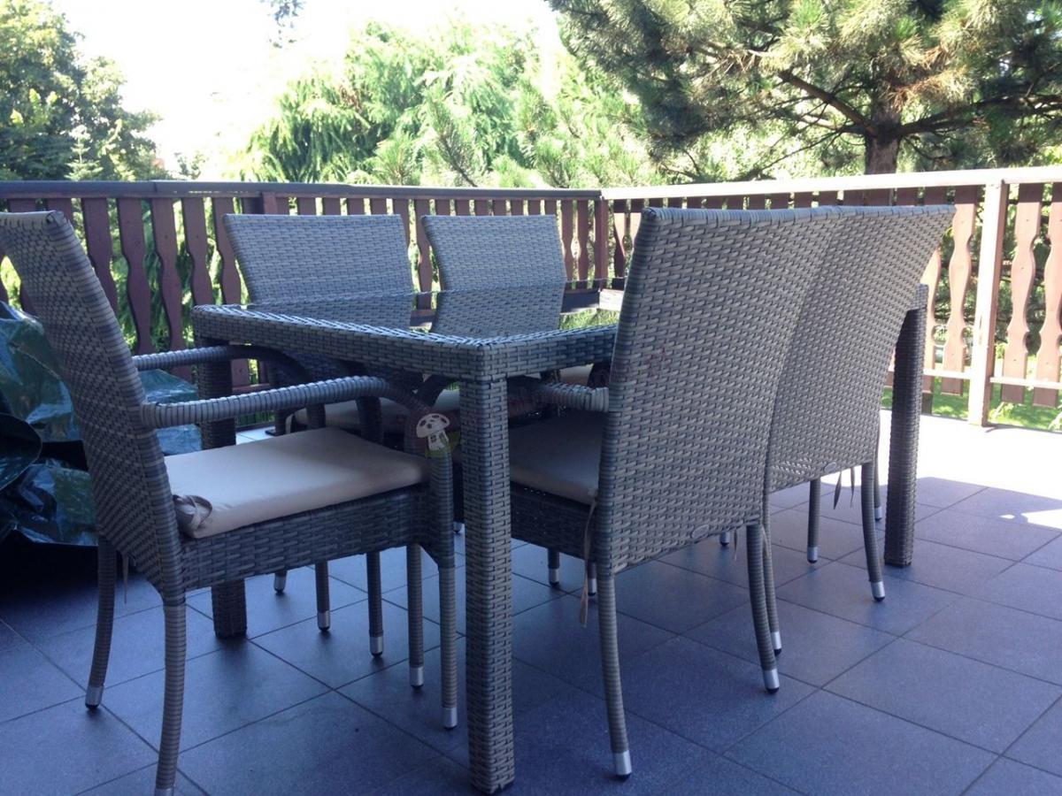 Stół i krzesła z technorattanu zestaw Rimmini & Torino