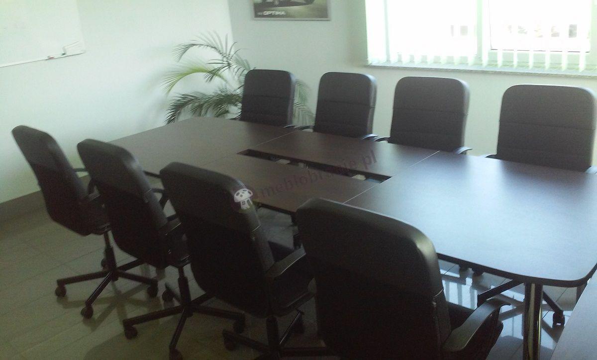 Stół konferencyjny dla 10 osób Samba odcień wenge