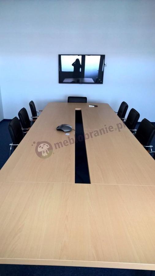 Stół na spotkania firmowe dla 14 osób Rumba buk jasny