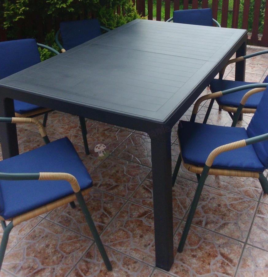 Stół ogrodowy rozkładany Keter Sonata grafitowy