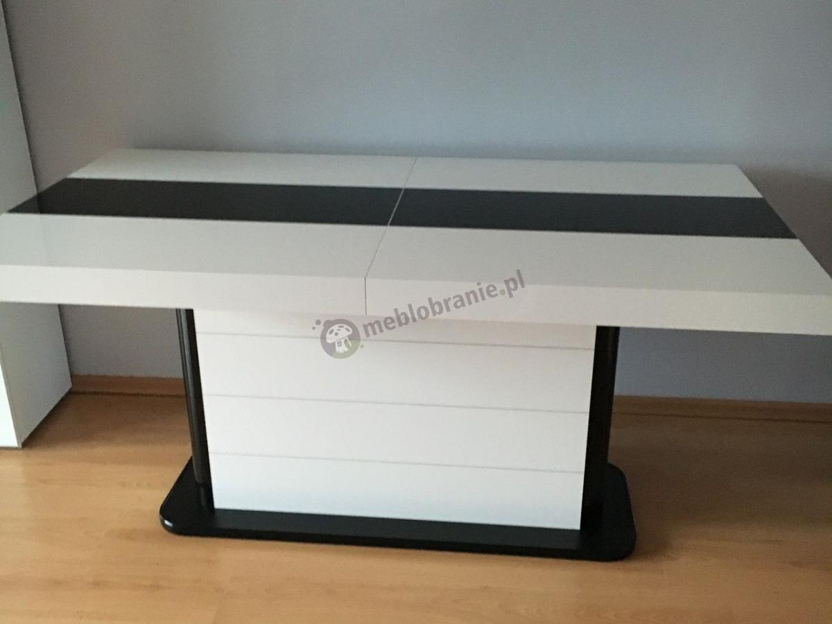 Stół rozkładany na jednej nodze Pianosa wysoki połysk