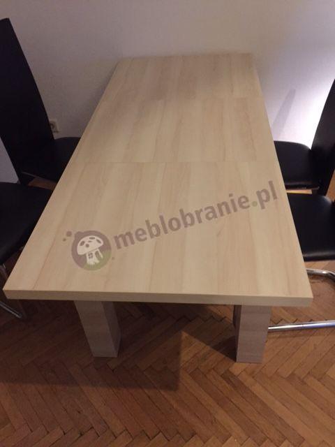 Stół rozkładany w dwie strony z wkładką chowaną pod blatem