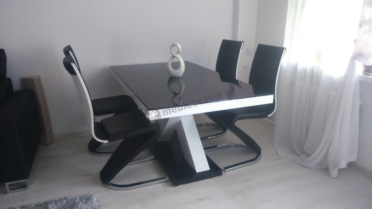 Stół wysoki połysk rozkładany do salonu Xenon