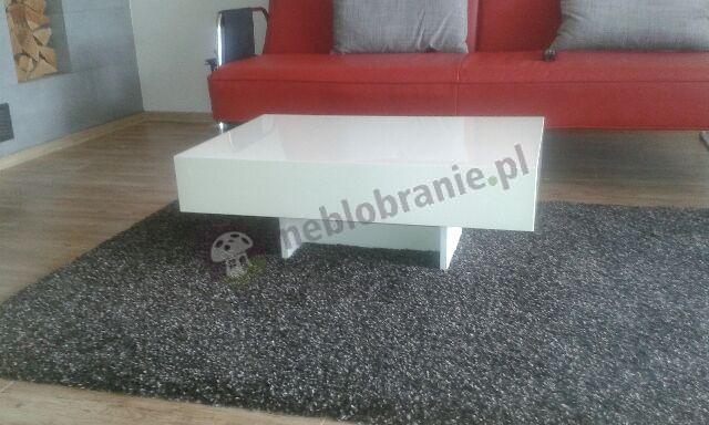 Stolik do salonu biały z blatem 90 cm