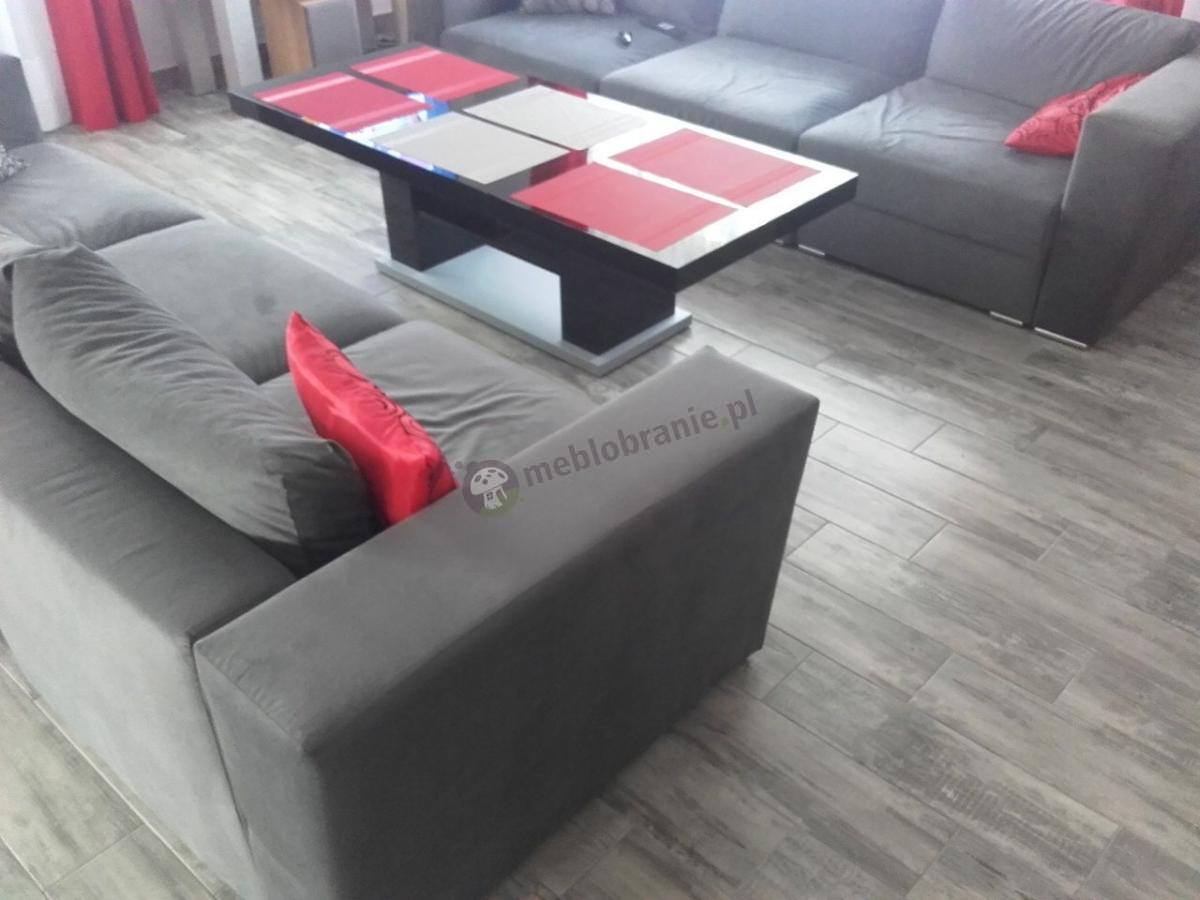 Stolik do salonu czarny rozkładany i podnoszony