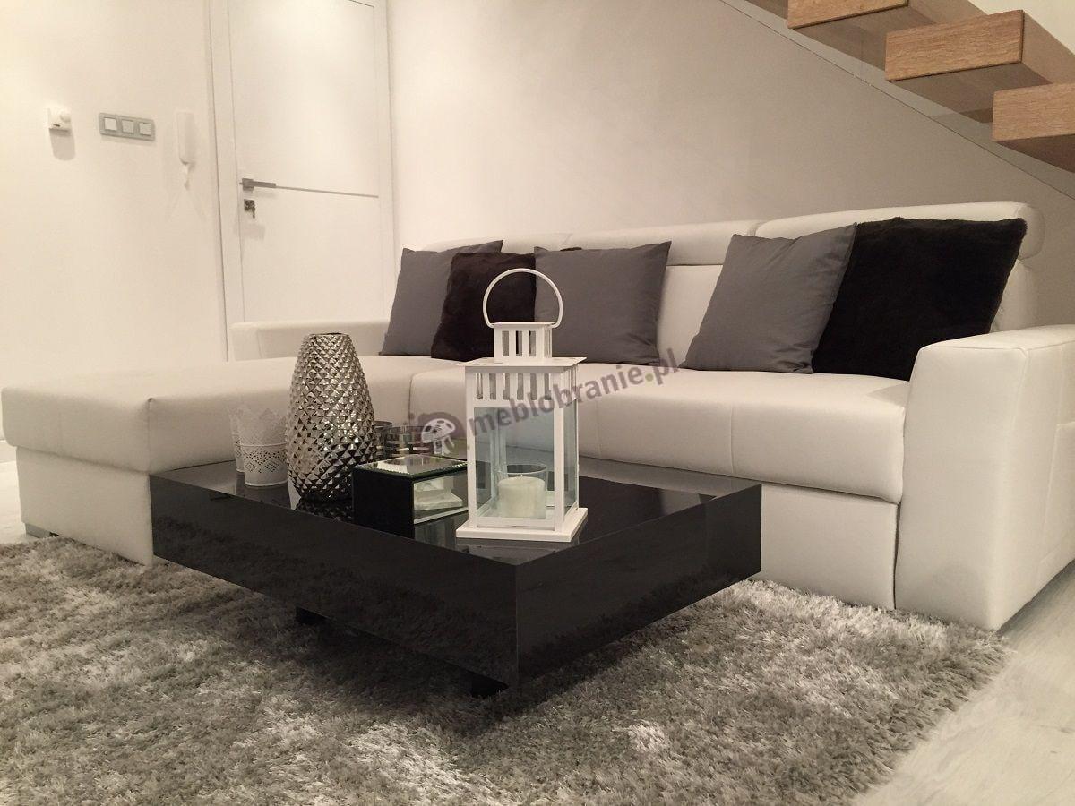 Stolik do salonu czarny rozmiar 90 cm