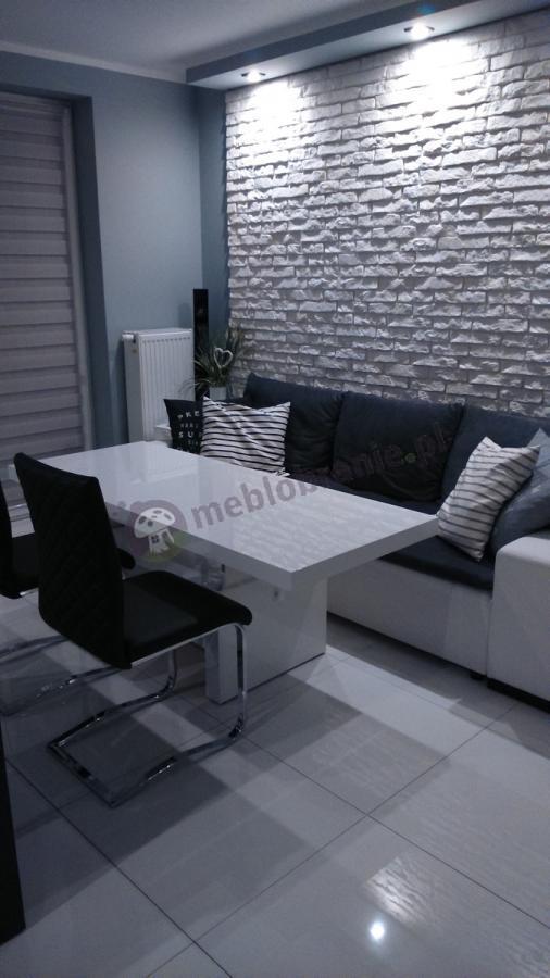 Stoły do salonu rozkładane białe Aversa