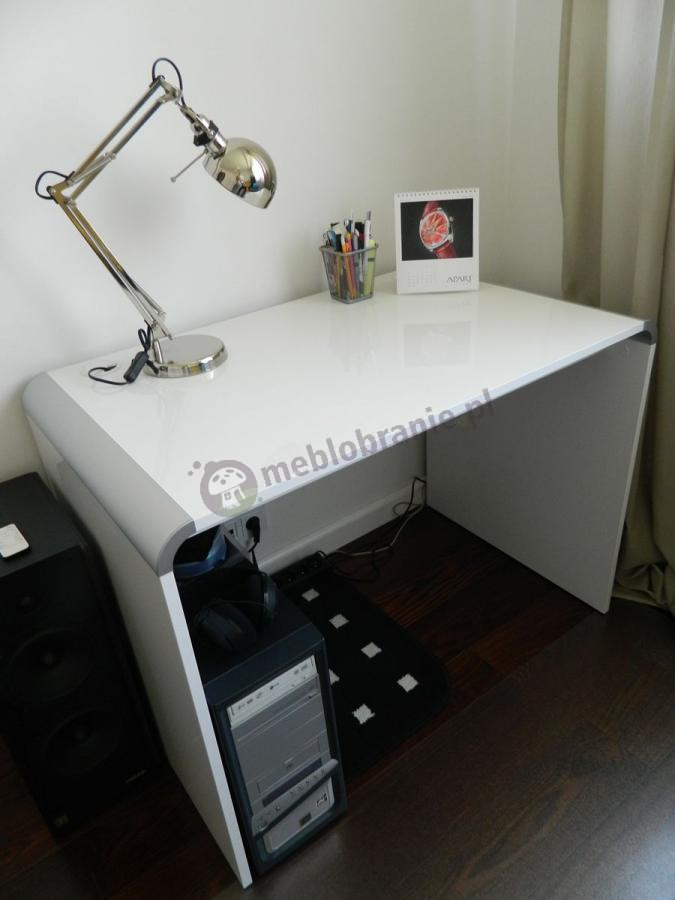 Stylowe białe biurko Murano Hubertus z lampką