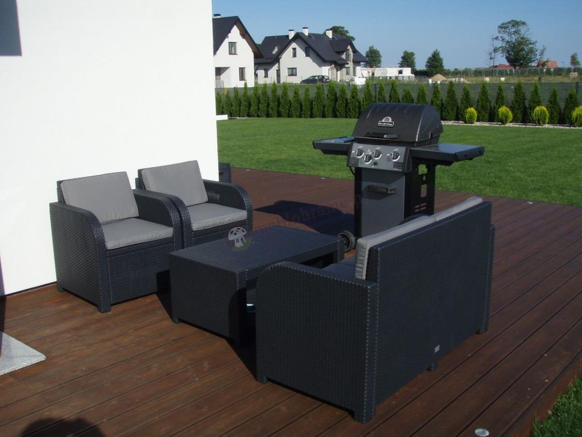 Stylowe meble na taras Modena Lounge Set przy grillu