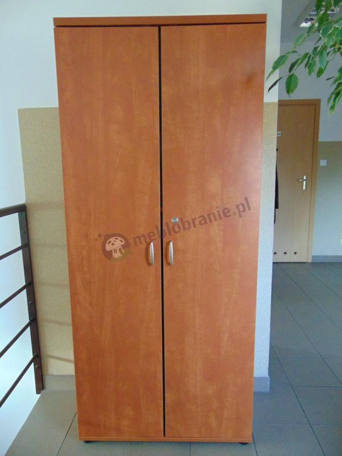 Szafa biurowa zamykana na klucz w odcieniu calvados