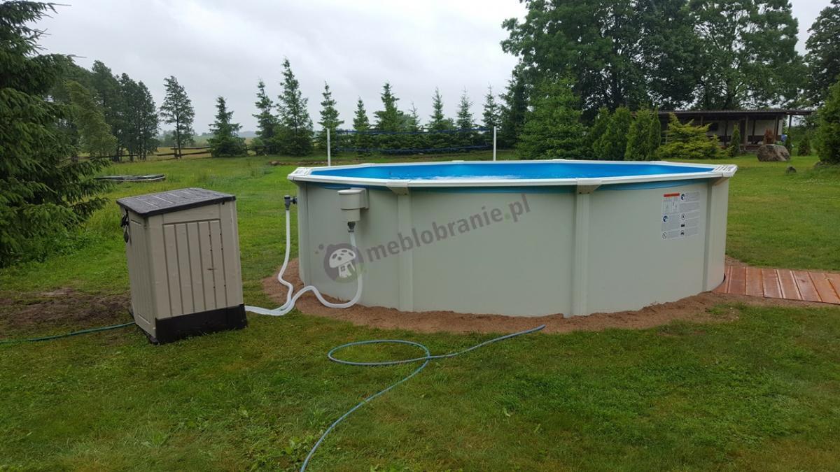 Szafa do ogrodu Keter wykorzystana do obsługi basenu