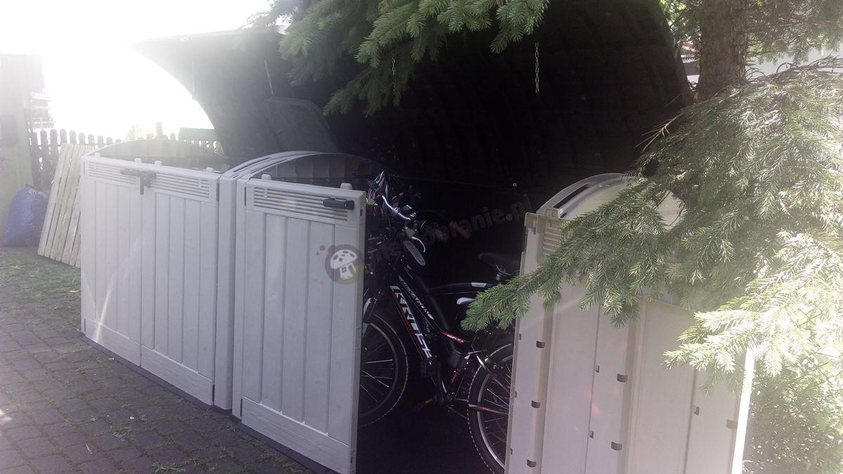 Szafa ogrodowa na rowery z tworzywa sztucznego