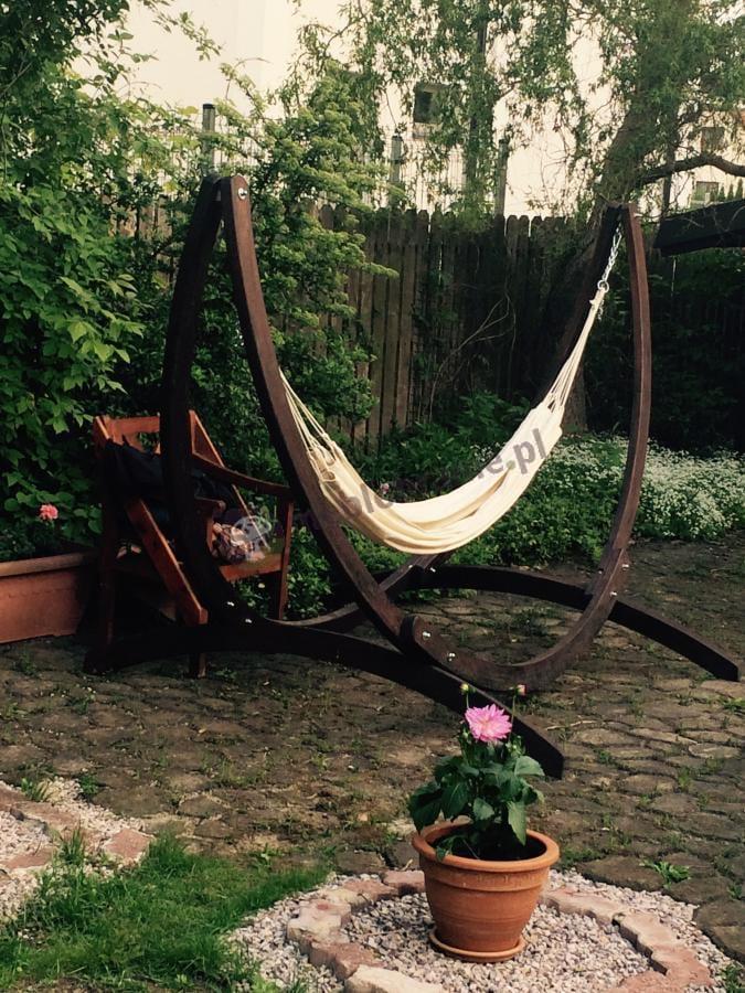 Sznurkowy hamak ogrodowy Doub w kremowym kolorze