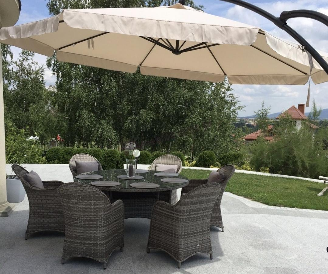 Taras dla 6 osób meble ogrodowe z 6 fotelami Altito
