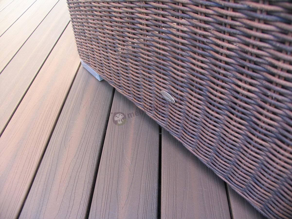 Technoratan na balkon zestaw z brązową plecionką