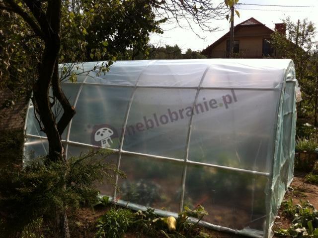 Tunel foliowy 4,2x2 w letnim ogrodzie