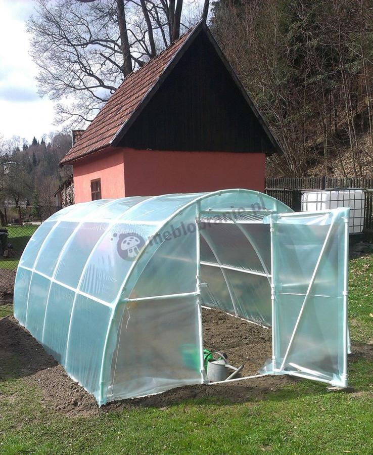 Tunel foliowy ogrodowy szklarnia 4,8x3 m na niewielkiej działce