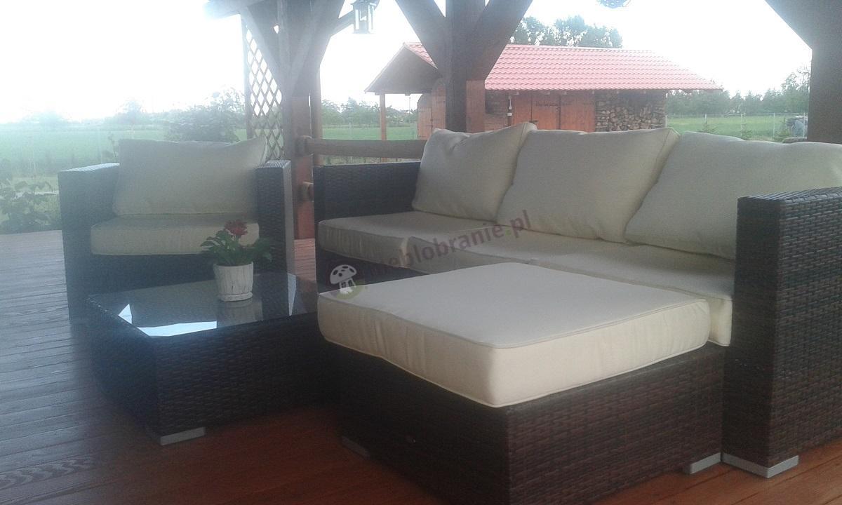 Wypoczynki ogrodowe z technorattanu - modułowa sofa Nilamito