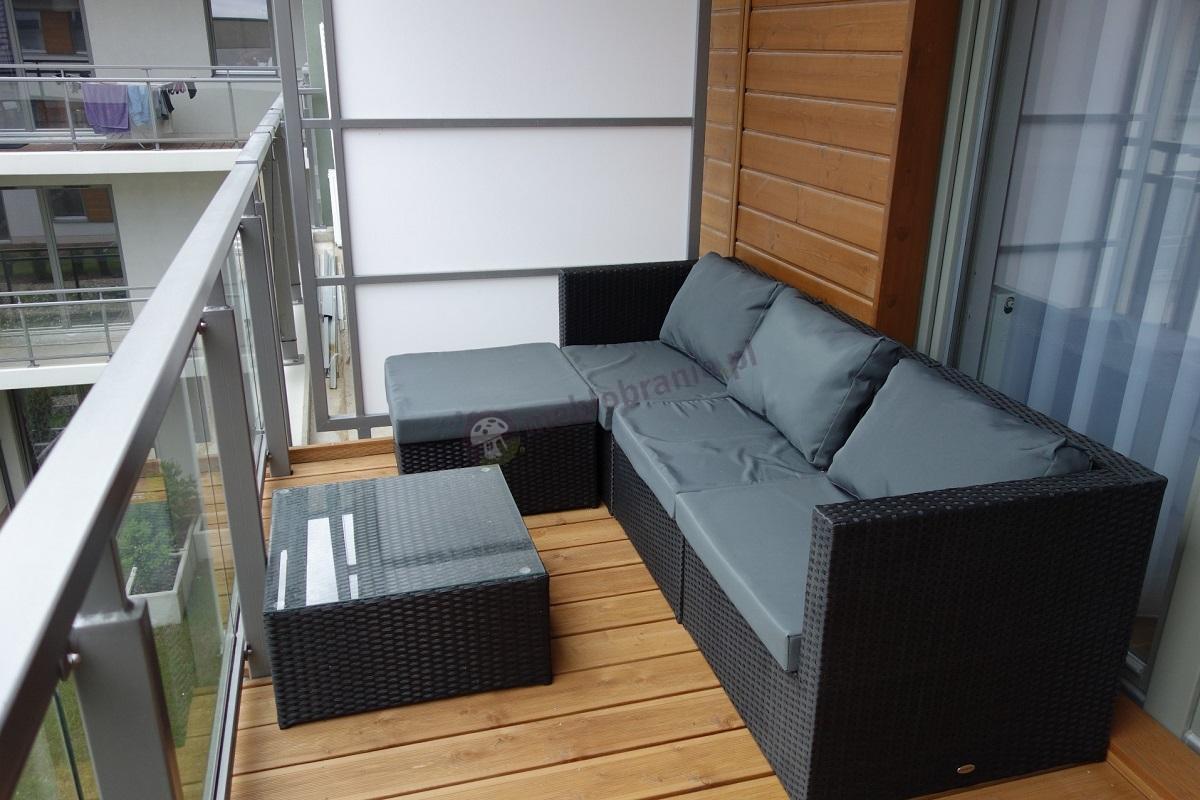 Wypoczynki ogrodowe z technorattanu mieszczące się na balkonach