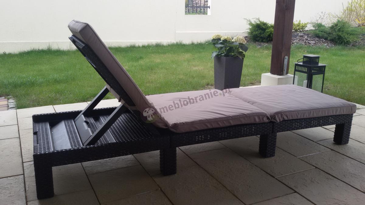 Wypoczynkowy leżak ogrodowy z plastiku Daytona Curver brązowy