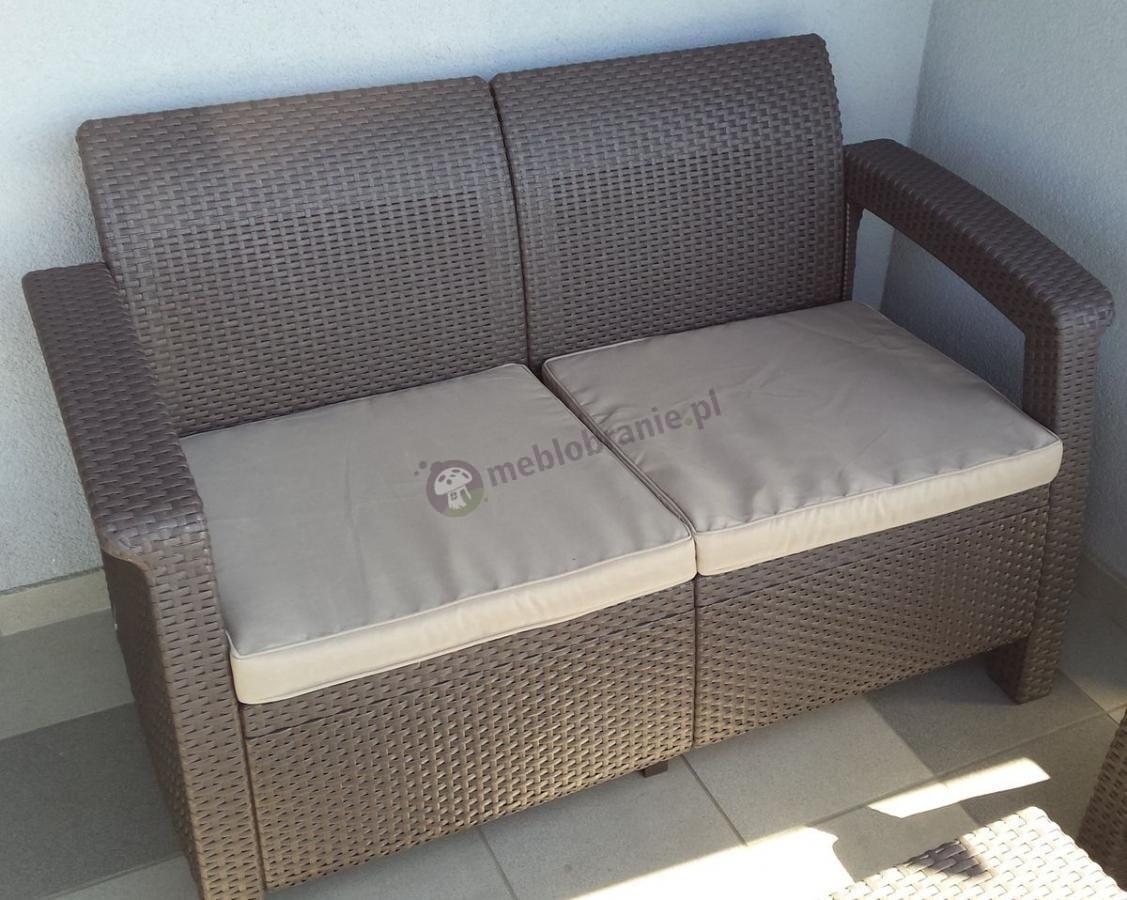 Zestaw Corfu Set Curver brązowy zbliżenie na sofę