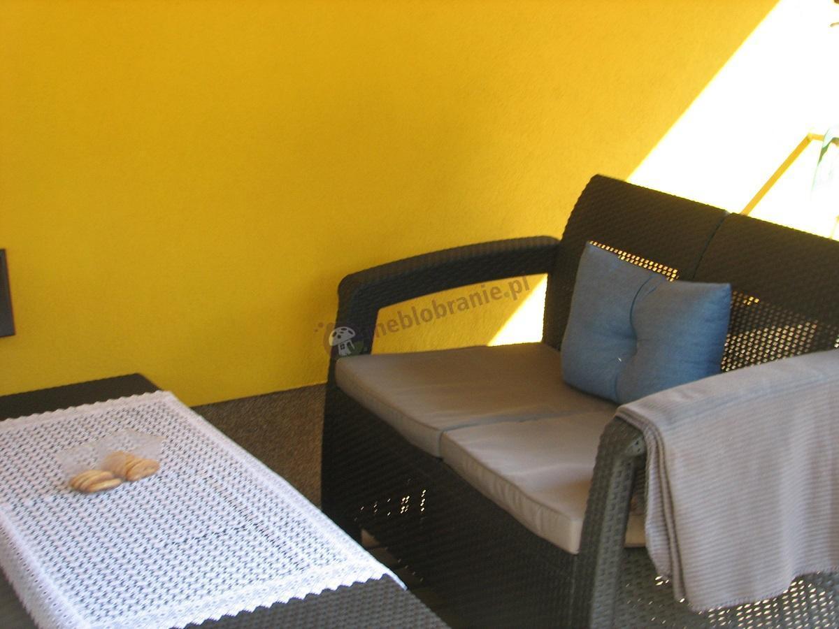 Zestaw Corfu Set Curver grafitowy na żółtym tle