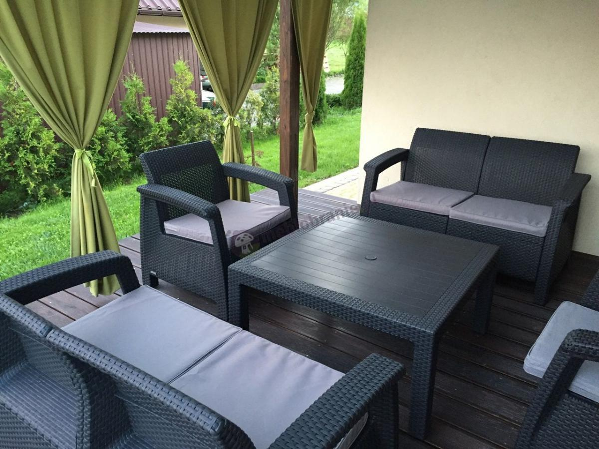 Zestaw do ogrodu Corfu Set Family anthracite