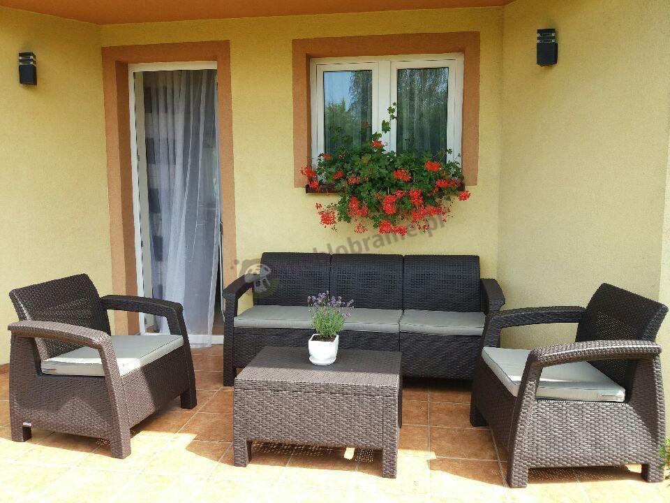 Zestaw mebli ogrodowych na taras Corfu Set Max