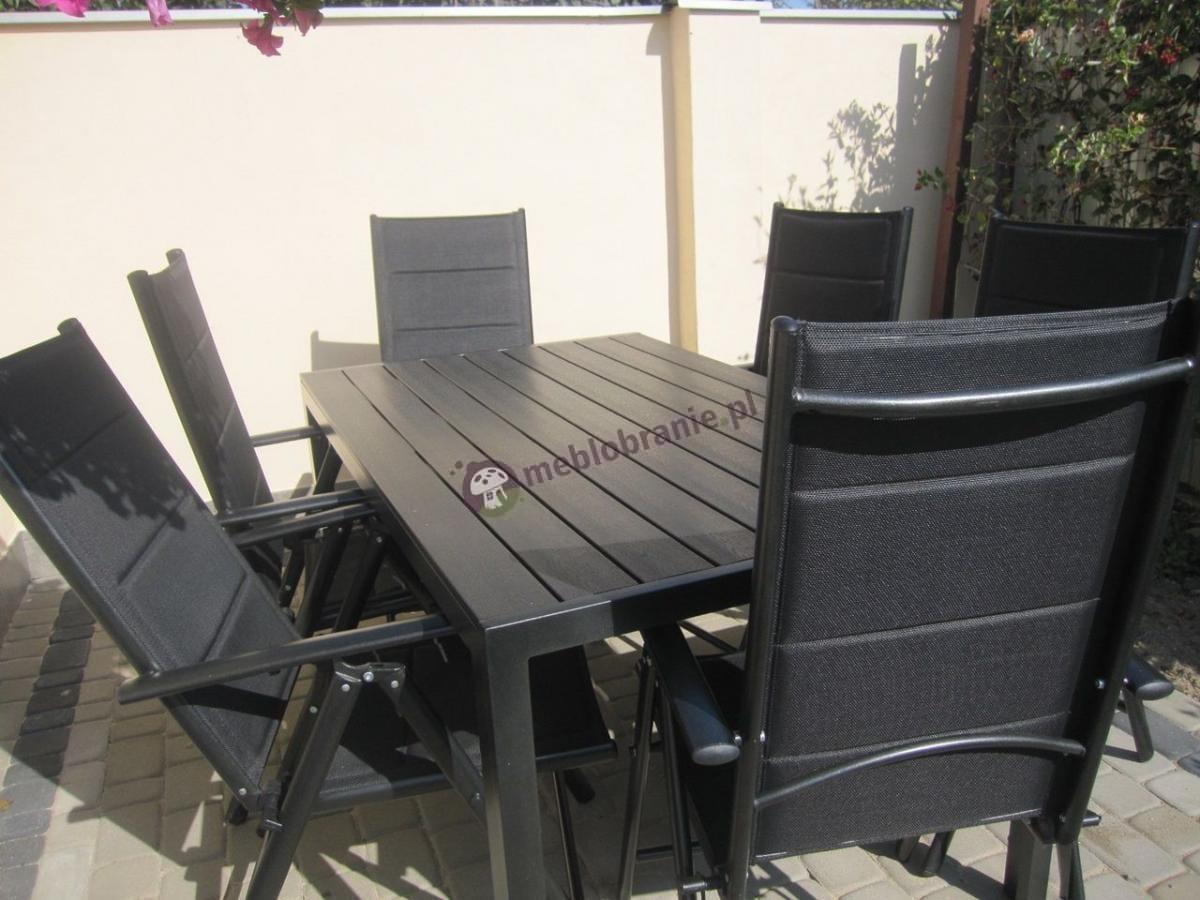 Zestaw mebli stołowych do ogrodu Sydney Anthracite