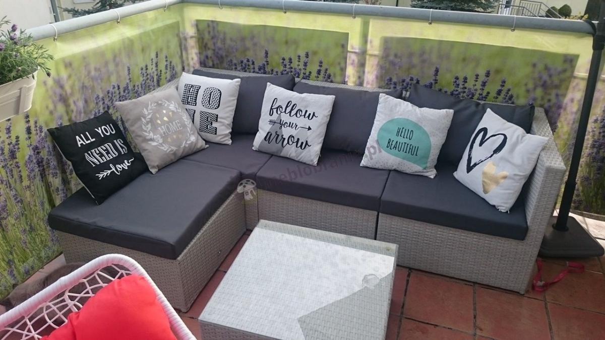 Zestaw na mały balkon Farlito V Ashen Ice Grey