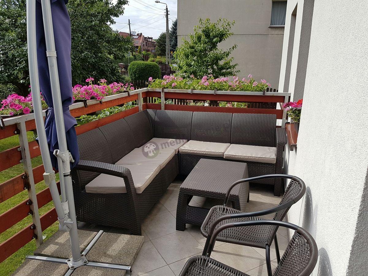 Zestaw ogrodowy Corfu sofa narożna ze stolikiem