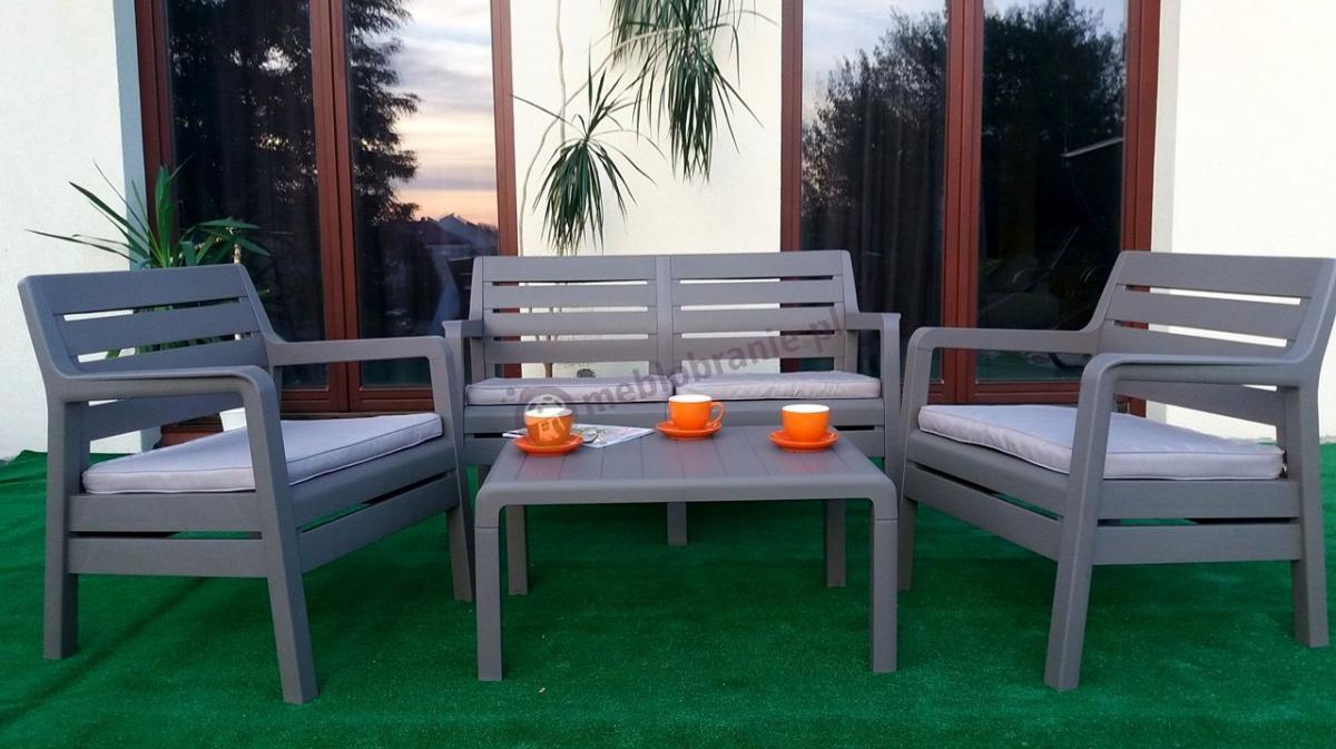 Zestaw ogrodowy na balkon Delano Set w kolorze cappuccino