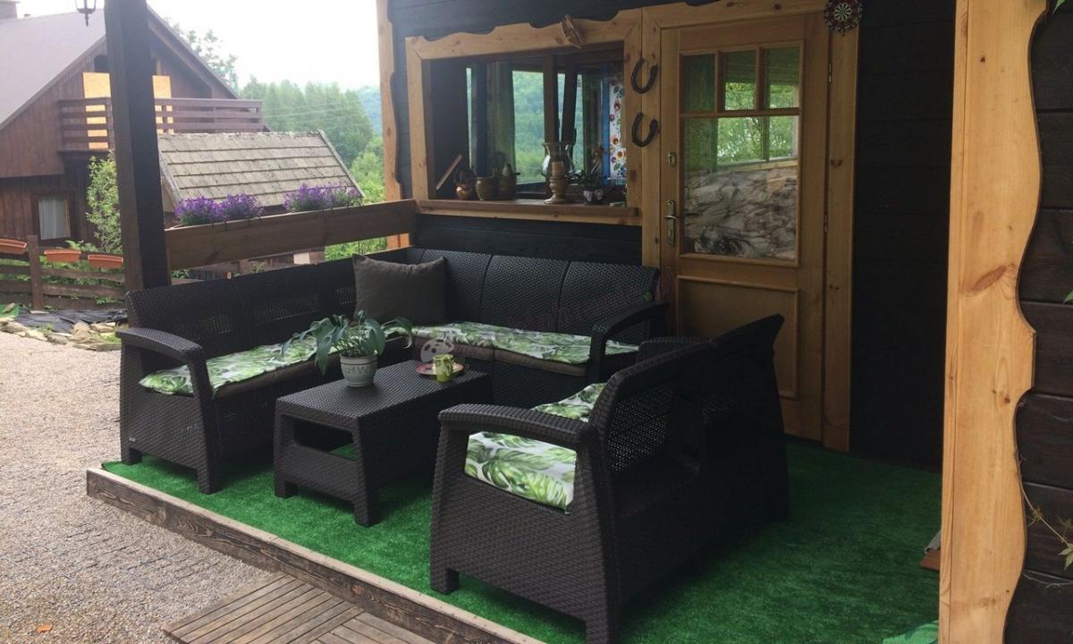 Zestaw ogrodowy narożnik Corfu Relax Set z sofą