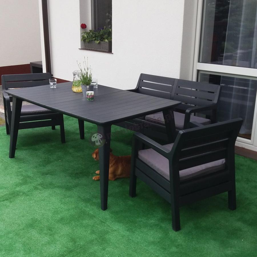 Zestaw ogrodowy stół i krzesła na taras De La Fiesta