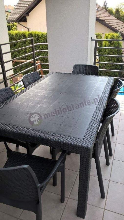 Zestaw ogrodowy stołowy Melody 6B grafitowy