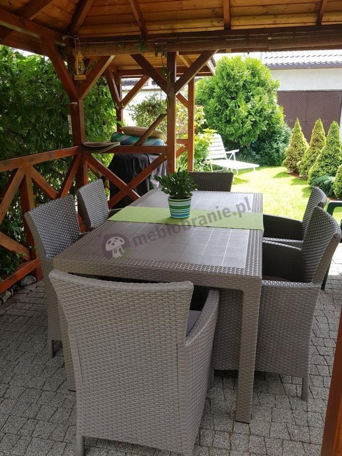 Zestaw ogrodowy z wysokimi oparciami Keter Cappuccino