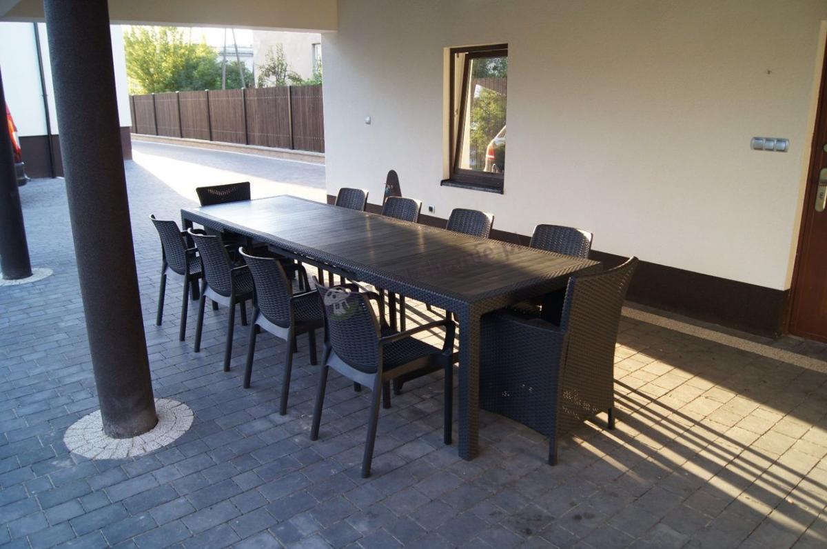 Zestaw z krzesłami i fotelami ogrodowymi dla 10 osób Keter grafitowy