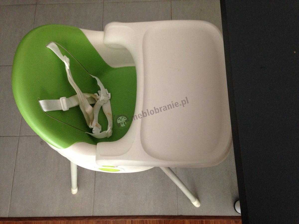 Zielone krzesełka dla dzieci do karmienia z szelkami