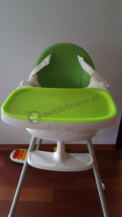 Zielone krzesełko multidine do karmienia dzieci 3w1