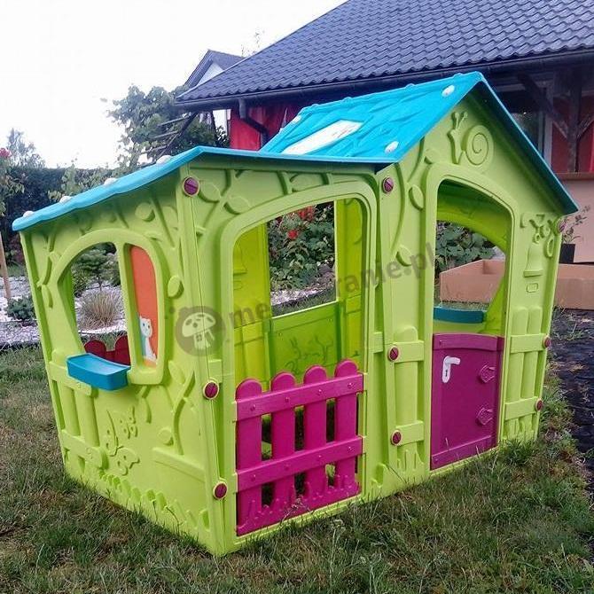 Zielony domek dla dziecka ogrodowy Keter Villa