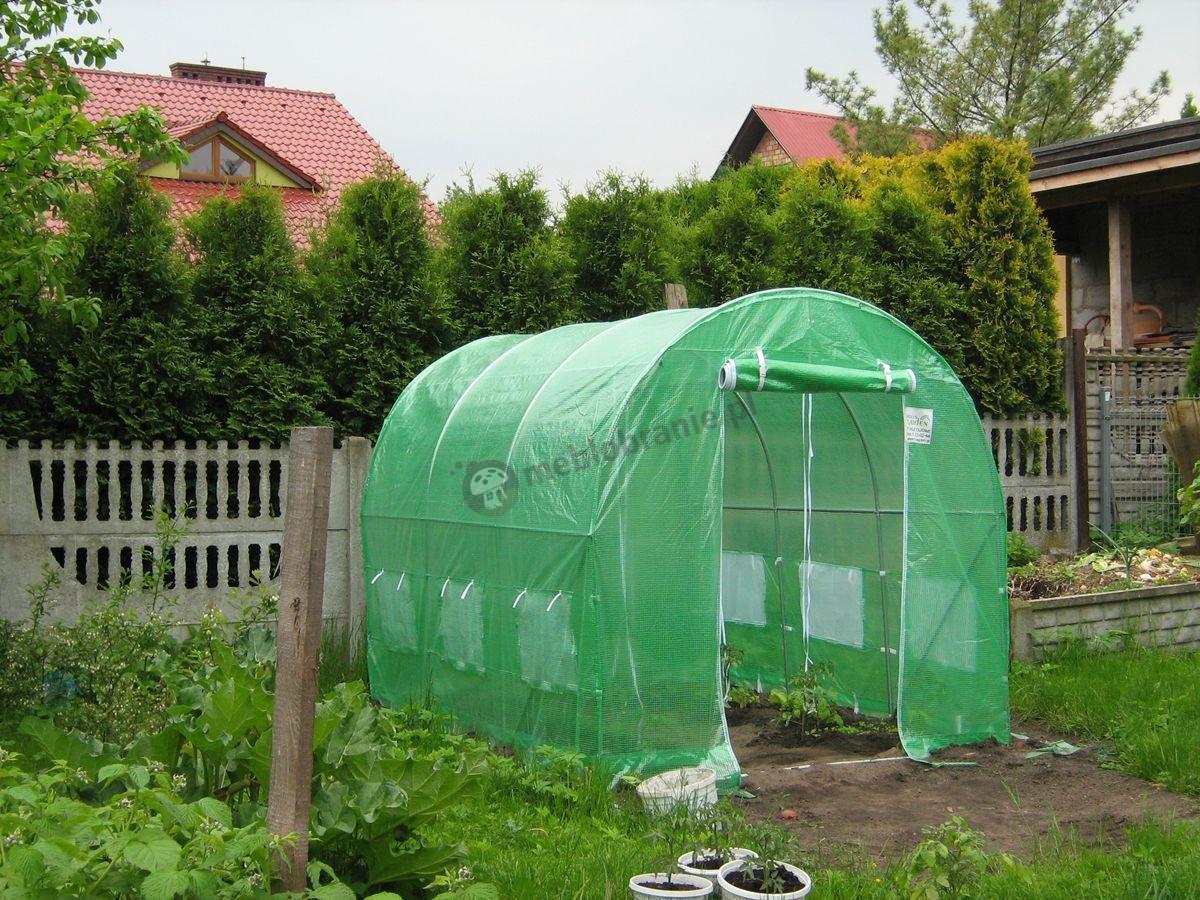 Zielony foliak 3x2 chroniący uprawę pomidorów
