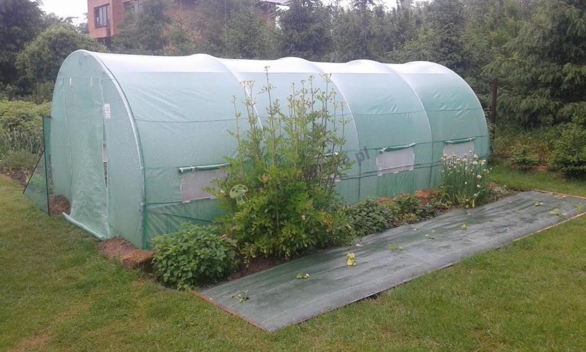 Zielony tunel foliowy 6x3m szklarnia folia PE UV pow. 18m2