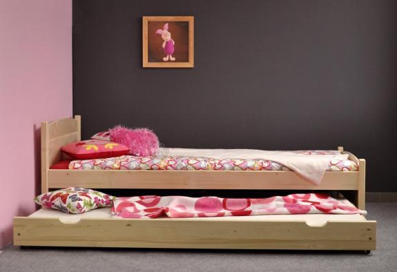 Sosnowa szuflada pod łóżko 200 cm