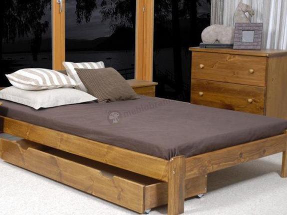 Sosnowa szuflada pod łóżko 98 cm
